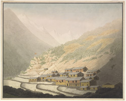 The village of Niti, Kumaon (U.P.). 4 June 1812